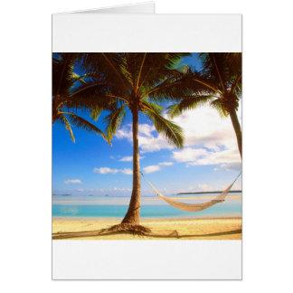 Beach Aitutaki Cook Islands Card
