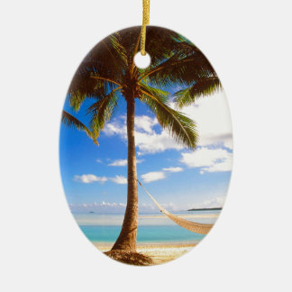 Beach Aitutaki Cook Islands Ceramic Ornament