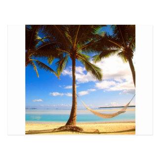 Beach Aitutaki Cook Islands Postcard