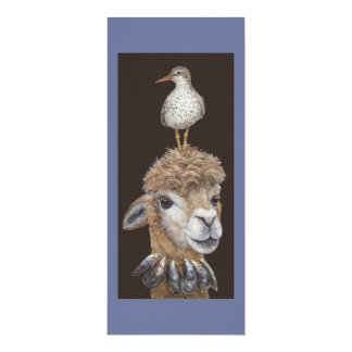Beach Alpaca flat cards Personalized Announcements