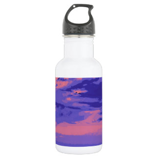 Beach, altered colors 02 18oz water bottle