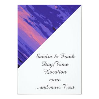 Beach, altered colors 02 5x7 paper invitation card