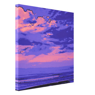 Beach, altered colors 02 gallery wrap canvas