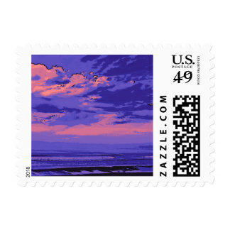 Beach, altered colors 02 stamp