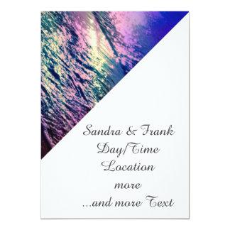 Beach, altered colors 03.jpg 5x7 paper invitation card