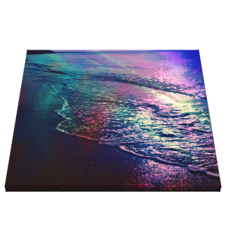 Beach, altered colors 03.jpg gallery wrap canvas