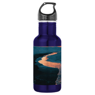 Beach, altered colors 18oz water bottle