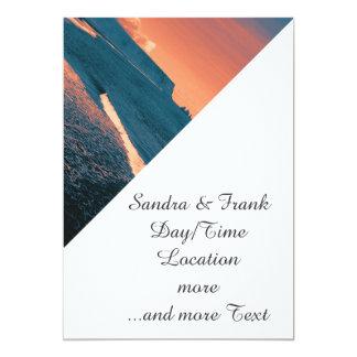 Beach, altered colors 5x7 paper invitation card