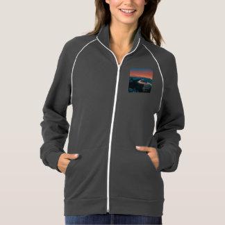 Beach, altered colors american apparel fleece track jacket