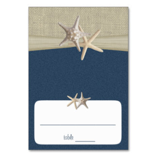 Beach Amore' Blue Seating Card