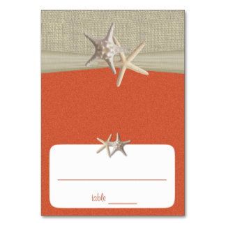 Beach Amore' Coral Sunshine Seating Card Table Cards
