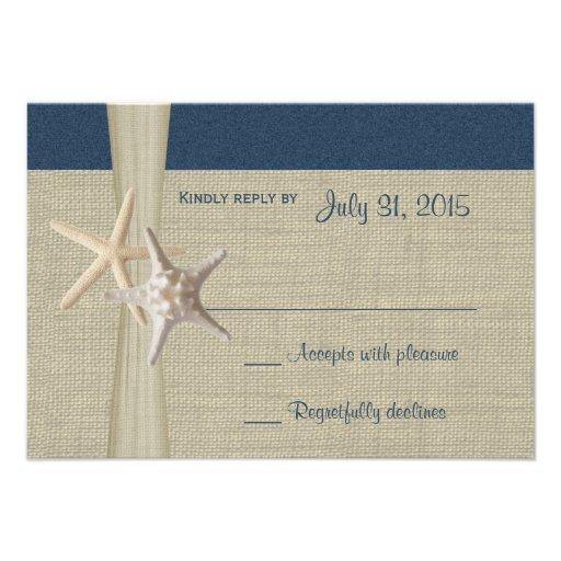 Beach Amore Navy Blue Response Card