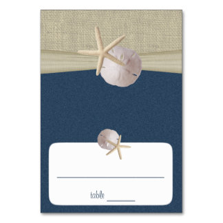 Beach Amore' Navy Blue Seating Card Table Card