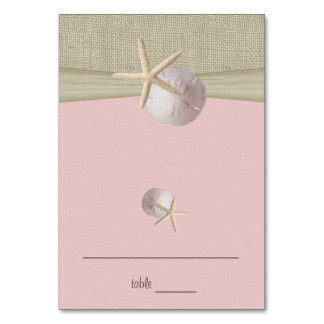Beach Amore' Pink Seating Card
