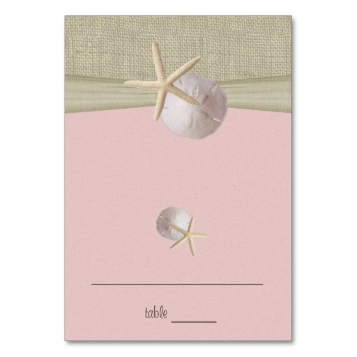 Beach Amore' Pink Seating Card Table Card