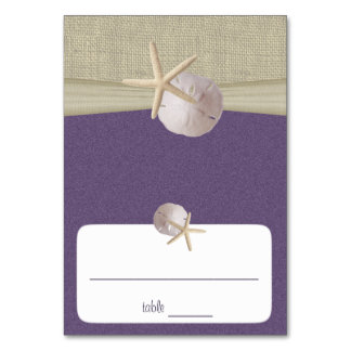Beach Amore' Purple Seating Card