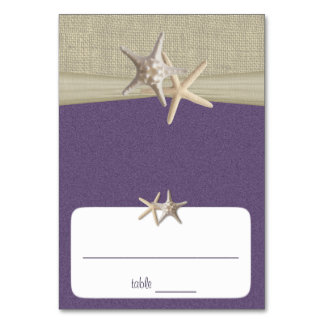 Beach Amore' Purple Seating Card