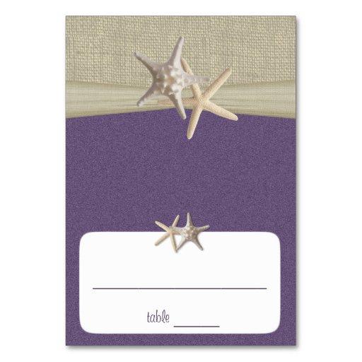 Beach Amore' Purple Seating Card Table Card