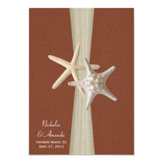 Beach Amore Starfish Wedding Personalized Invitations