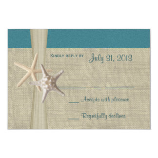 Beach Amore Teal Response Card