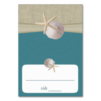 Beach Amore' Teal Seating Card