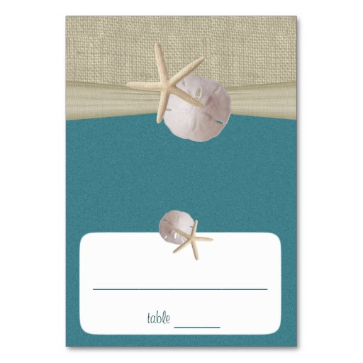 Beach Amore' Teal Seating Card Table Cards