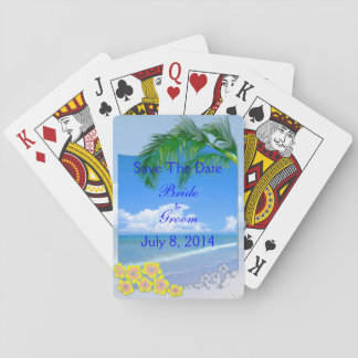Beach And Blue Skies Wedding Save The Date Poker Cards