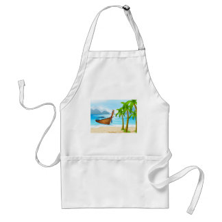 Beach and boat adult apron