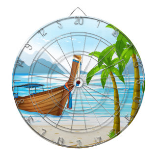 Beach and boat dartboard