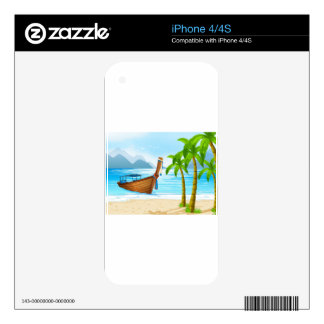 Beach and boat skins for the iPhone 4S