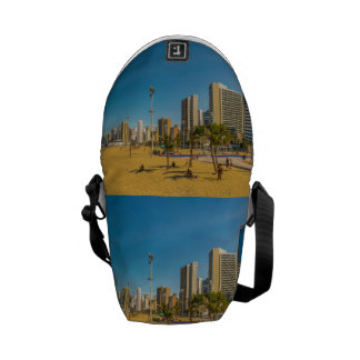 Beach and Buildings of Fortaleza Brazil Courier Bag