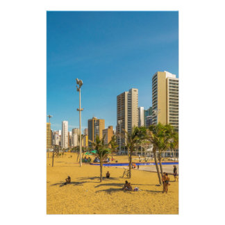 Beach and Buildings of Fortaleza Brazil Stationery