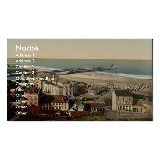 Beach and casino, Boulogne, France vintage Photoch Double-Sided Standard Business Cards (Pack Of 100)