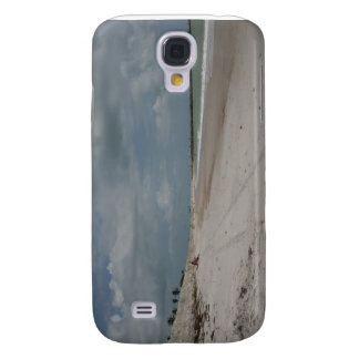 Beach and dune and jetty empty except one samsung galaxy s4 case