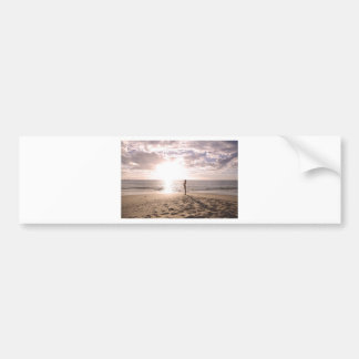 Beach and Life Bumper Sticker