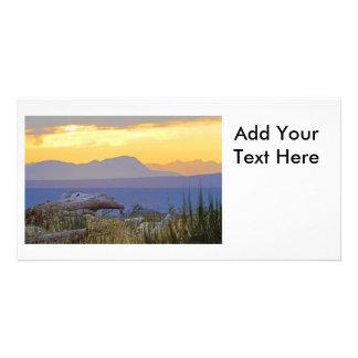 Beach and Mountain Sunrise Card
