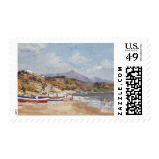 Beach and Mountains Nerja 2001 Postage Stamp