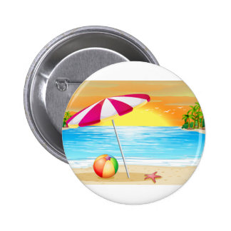 Beach and ocean button