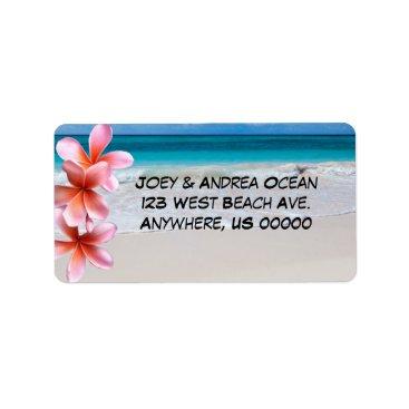 Beach Themed Beach and Ocean Custom Return Address Labels