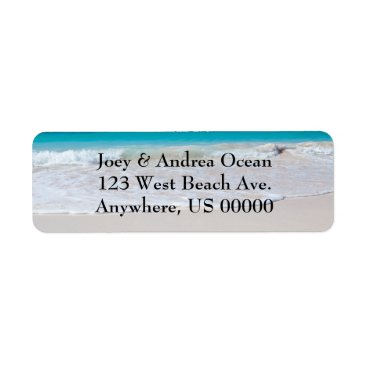 Beach Themed Beach and Ocean Custom Return Address Labels