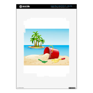 Beach and ocean iPad 3 decals
