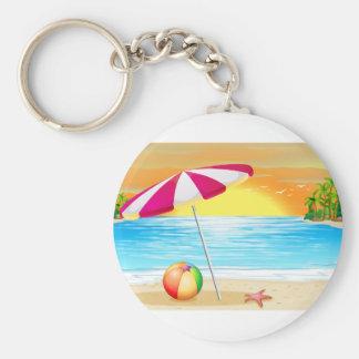 Beach and ocean keychain