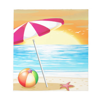 Beach and ocean notepad