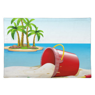 Beach and ocean placemat