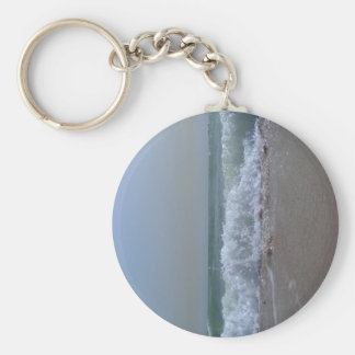 Beach and ocean souvenirs basic round button keychain