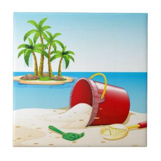 Beach and ocean tile