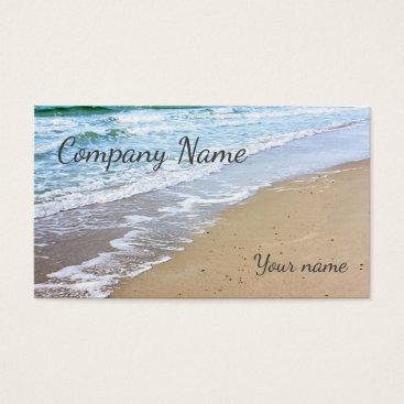 Beach Themed Beach and ocean waves business card
