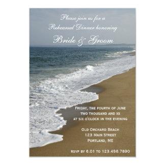 Beach and Ocean Wedding Rehearsal Dinner Invite
