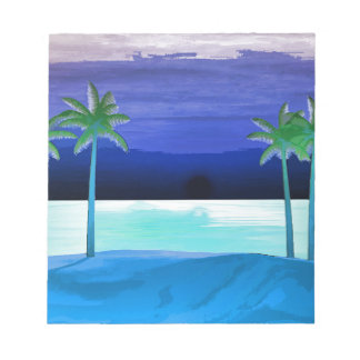 Beach and Palm Trees Note Pads