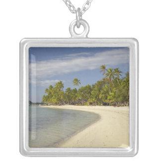 Beach and palm trees, Plantation Island Resort 2 Custom Jewelry